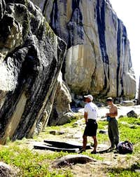 There's bouldering around the...