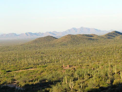 View of San Tan Mountains