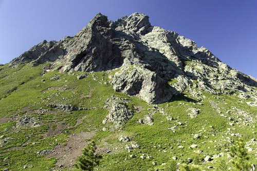 Punta Minuta north ridge