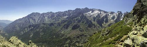 The Cinto Massif seen from Bocca Culaghia