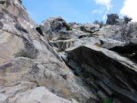 Access to Crag Peak Summit Ridge
