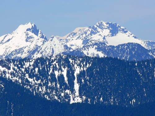 Three Fingers, Mount Baker, and Whitehorse