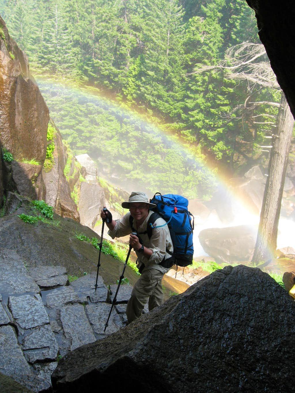 Framed by a Rainbow on the Mist Falls Trail