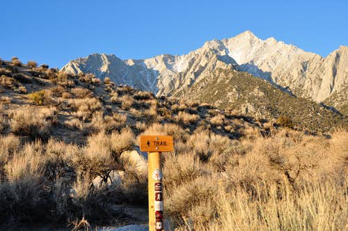 Trailhead to Whitney Portal...
