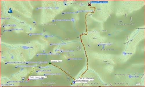Beartown to Jagged route overview