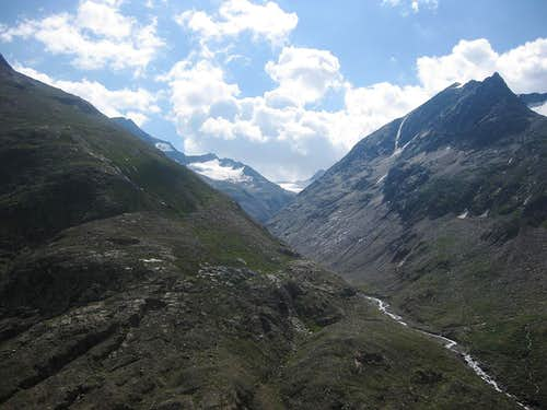 Looking up into the Schalfbach valley