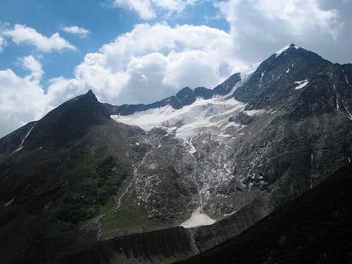Mutmalspitze from the Martin Busch Hütte