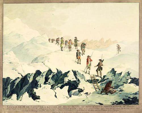 de Saussure descent of Mont Blanc