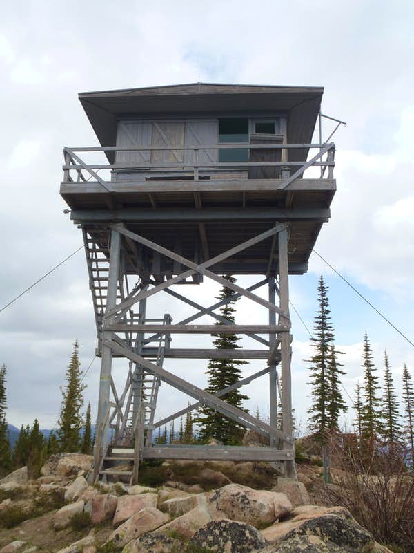 Buck mountain lookout photos diagrams topos summitpost for Fire lookout tower plans