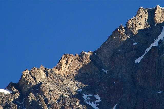Obergabelhorn SW ridge from...