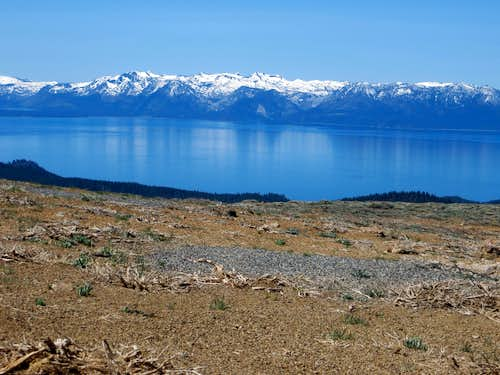 View to Lake Tahoe from the summit