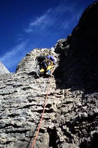 Typical climbing to approach...