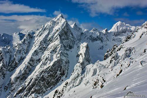 Prostredny Hrot and Siroka Veza peaks
