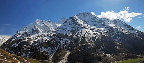 La Meije massif from near Col du Lautaret