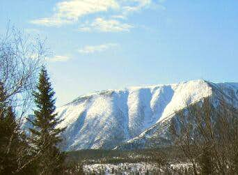 Mont Logan's northern slopes....