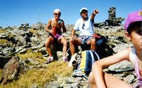 M. Iverta Summit & Cairn arriving from Mount Avic 1993