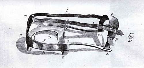 Crampons used by de Saussure
