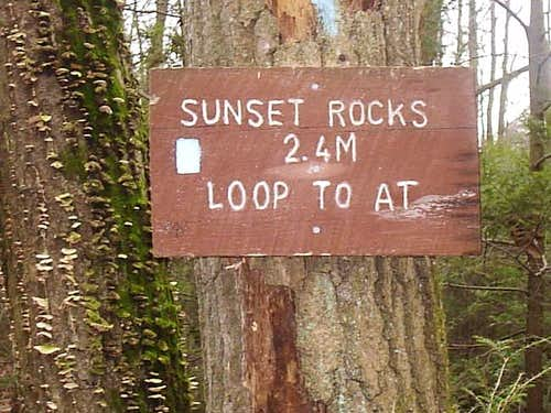 Sign at the trailhead for...