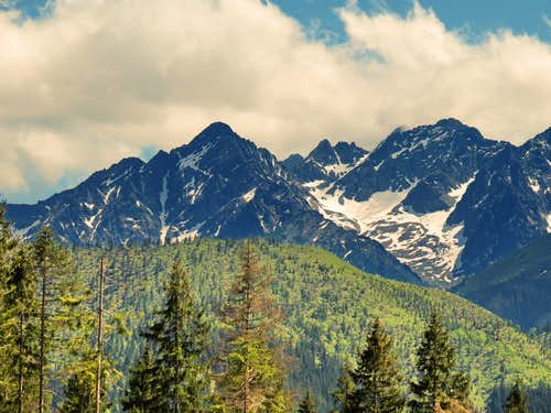 Eastern part of High Tatras