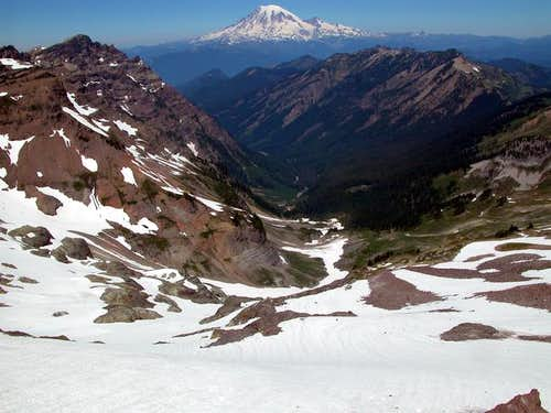 Mt Rainier as seen from atop...