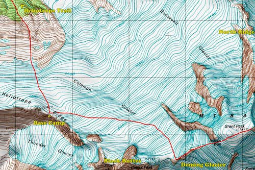 Coleman Deming Topographic Map