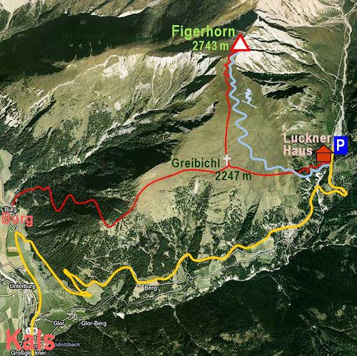 Figerhorn and its routes
