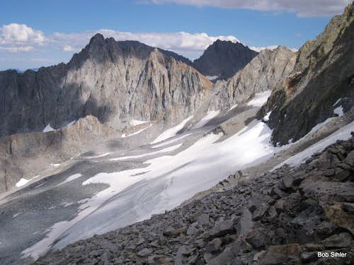 The Thumb and Middle Palisade Glacier