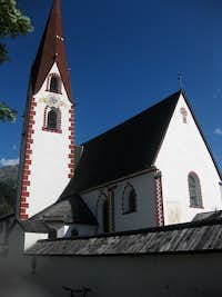 Church in the center of Umhausen
