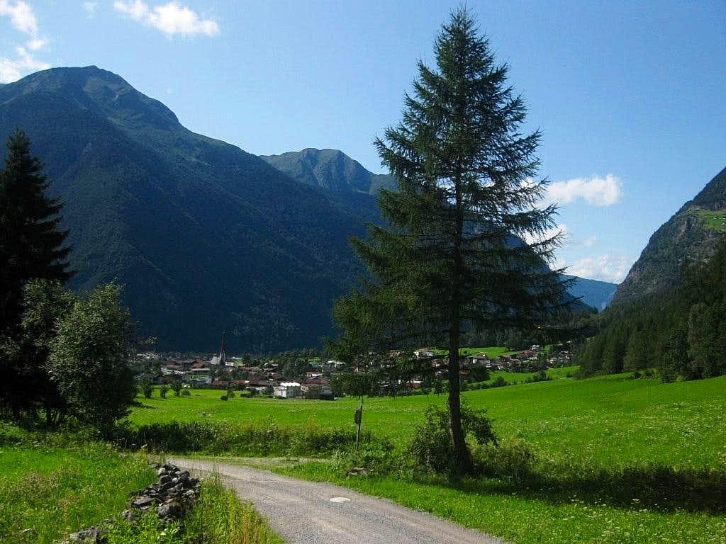 The alpine village of Umhausen