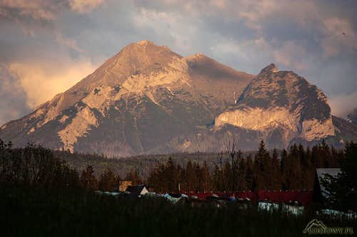 Belianske Tatras from Poronin