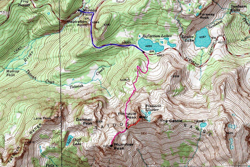 Plummer Peak Topo Map