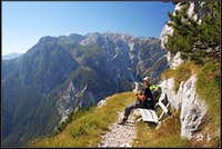 Crossing the Sunny Slopes of South Bohinj Range