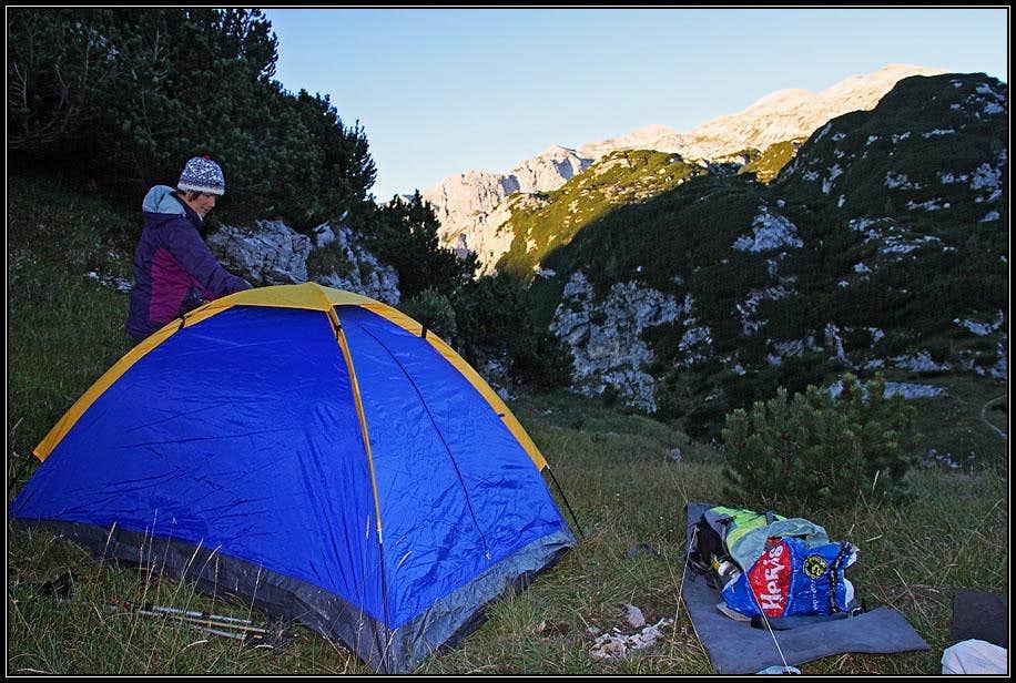 Morning on Prehodci pass