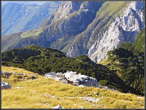Prehodci pass from Velika Montura