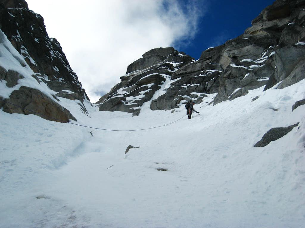 Wider section of the NE couloir