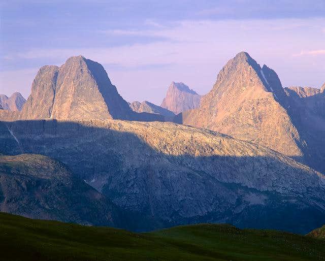 Vestal Peak (left) & Arrow...