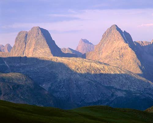 Vestal Peak (left) & Arrow...