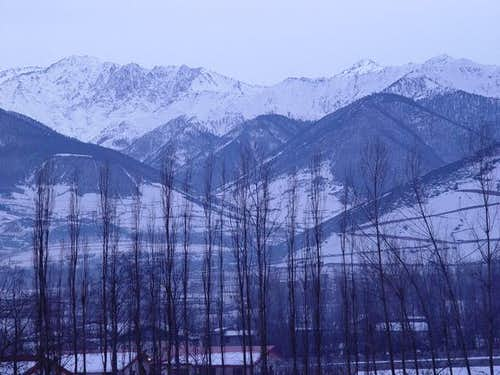 view from Abbasabad road. ...