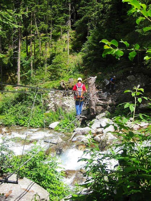 The start of the Stuibenfall Via Ferrata