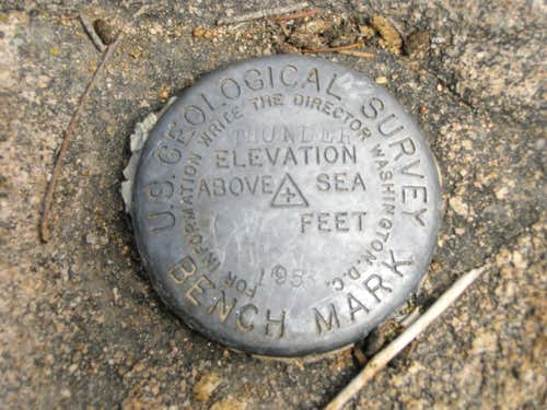 Thunder Butte Summit Marker