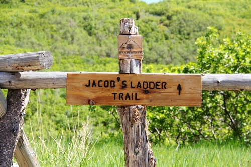 Jacob's Ladder Trailhead Sign