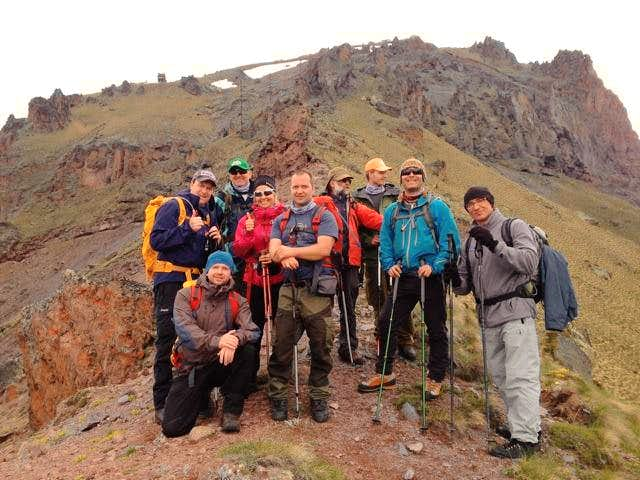 The team at 2900m