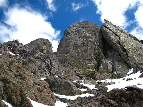 Towers on the west arete