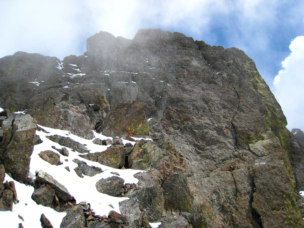 Looking towards the crux