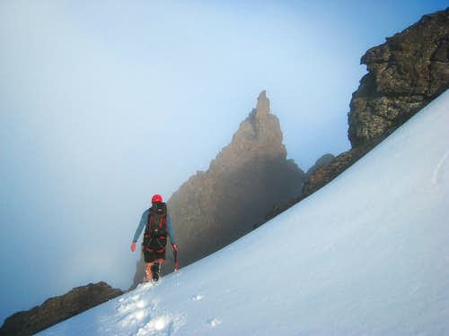 Looking for the South gully