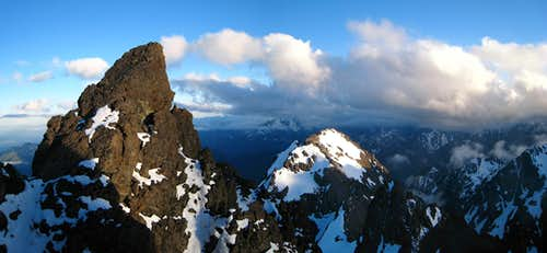 Sunset from the south col