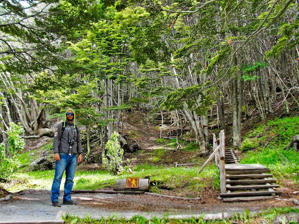 Hiking inside Tierra Del Fuego NP