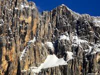 Civetta NW face suspended glacier