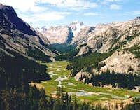 Gannett Peak at the head of...