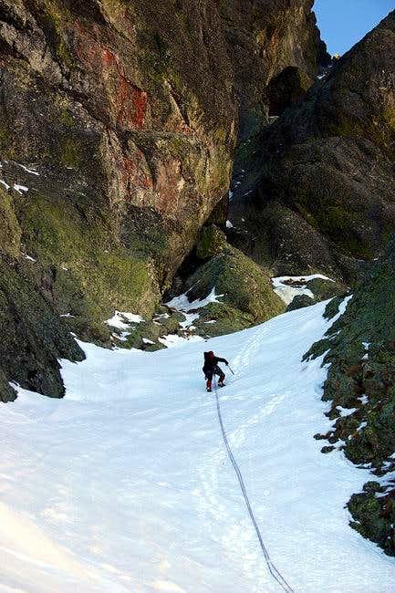 Climbing the Diagonal route...